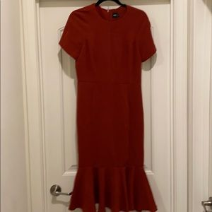 ASOS rust / burnt orange dress
